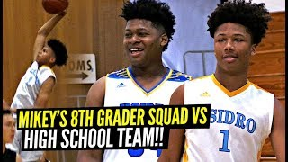 Mikey Williams & His 8th Grade Squad Beat HIGH SCHOOL VARSITY TEAM!! They Can't STOP JAHZARE!!