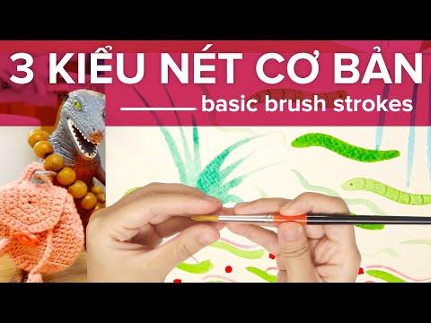 Luyện Nét đơn Giản Với Bút Lông | Basic Brush Strokes