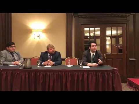 NYSYD President Patrick Jordan speaking at Young Democrats Panel at NYSDC Summer 2017 Meeting
