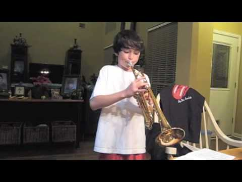 Young trumpet player: Ohio State's fight song