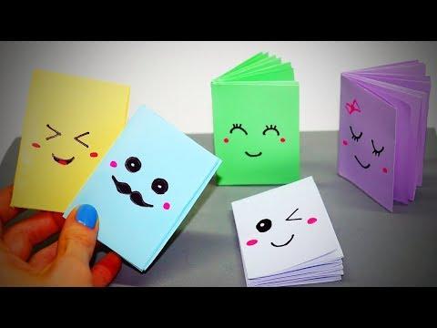 No Glue Mini Notebooks 📖 DIY Paper Crafts [Life Hacks]