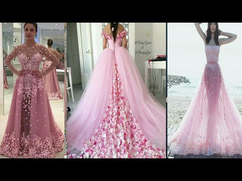 BEAUTIFUL PINK FLORAL GOWN DESIGNS 2019    PROM DRESS    EVENING DRESS