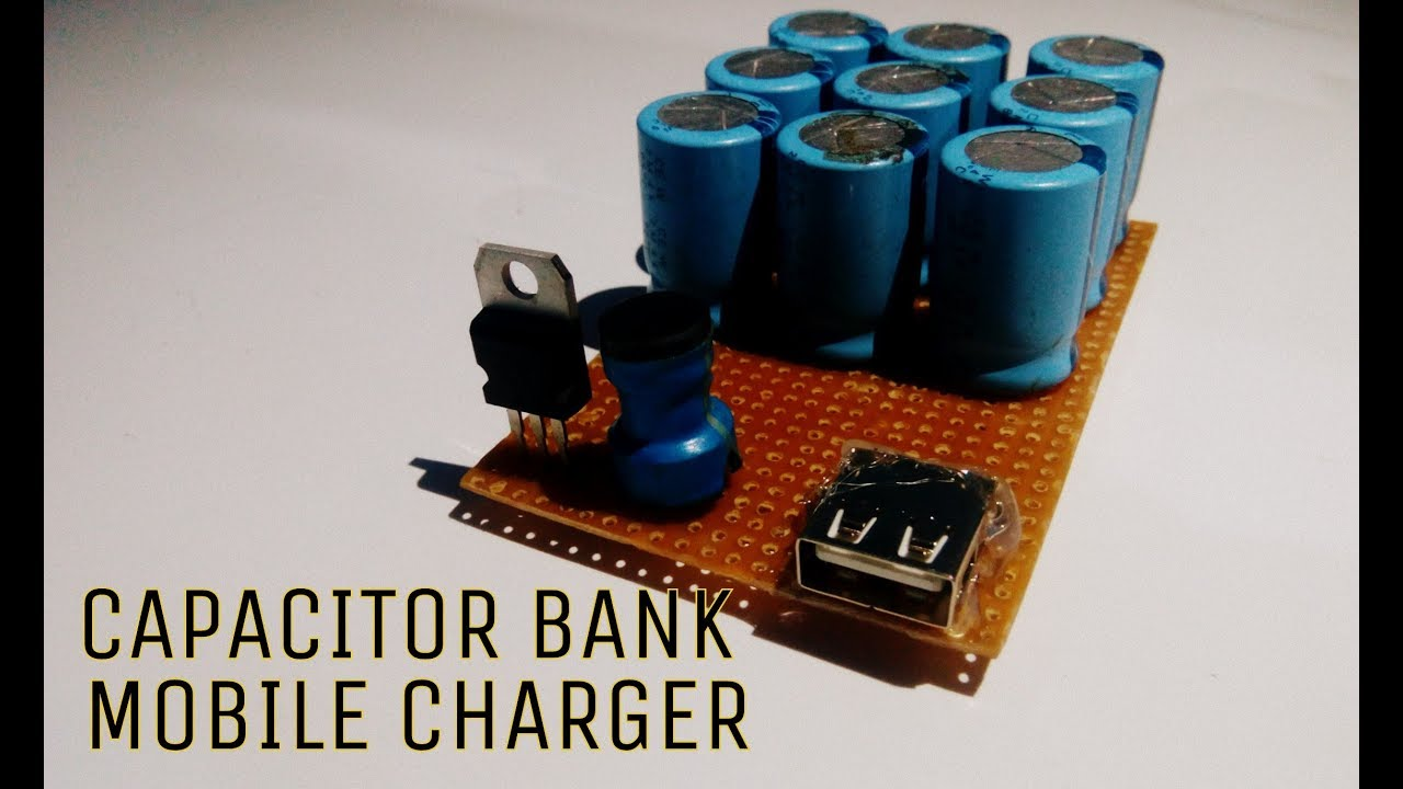 Make A Power Bank Using Capacitor Mobile Charger Super