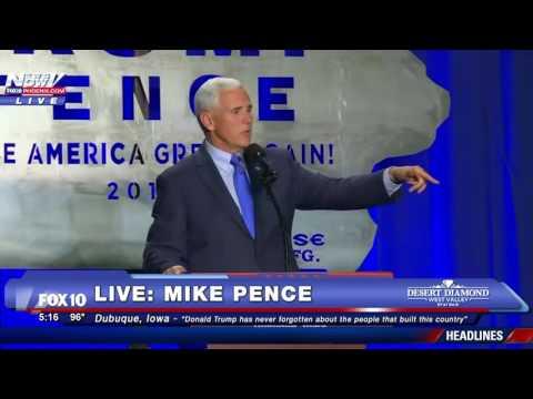 FNN: Mike Pence Rally Dubuque, Iowa