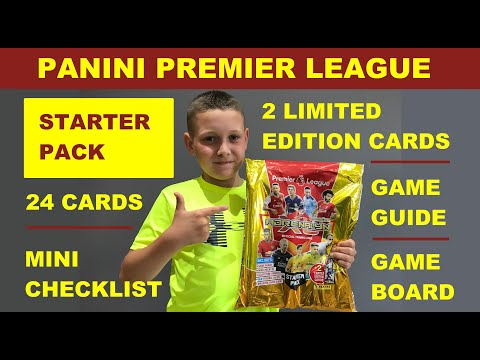 What's In The NEW Panini Premier League Starter Pack & My Best 11 Players | Panini Adrenalyn XL