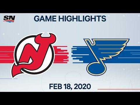 NHL Highlights | Devils Vs Blues – Feb. 18, 2020