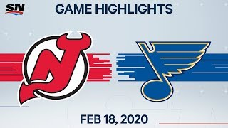NHL Highlights | Devils vs Blues - Feb. 18, 2020