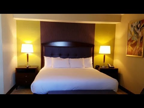 Hilton Charlotte City Center King Hotel Room Tour - Room 221