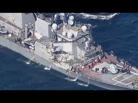 Vor Korea: US-Zerstörer USS Fitzgerald kollidiert mit Frachter - Sieben Vermisste