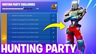 New HUNTING PARTY SKIN in Fortnite! - A.I.M SKIN WEEK 7 CHALLENGES! (Fortnite Battle Royale Live)