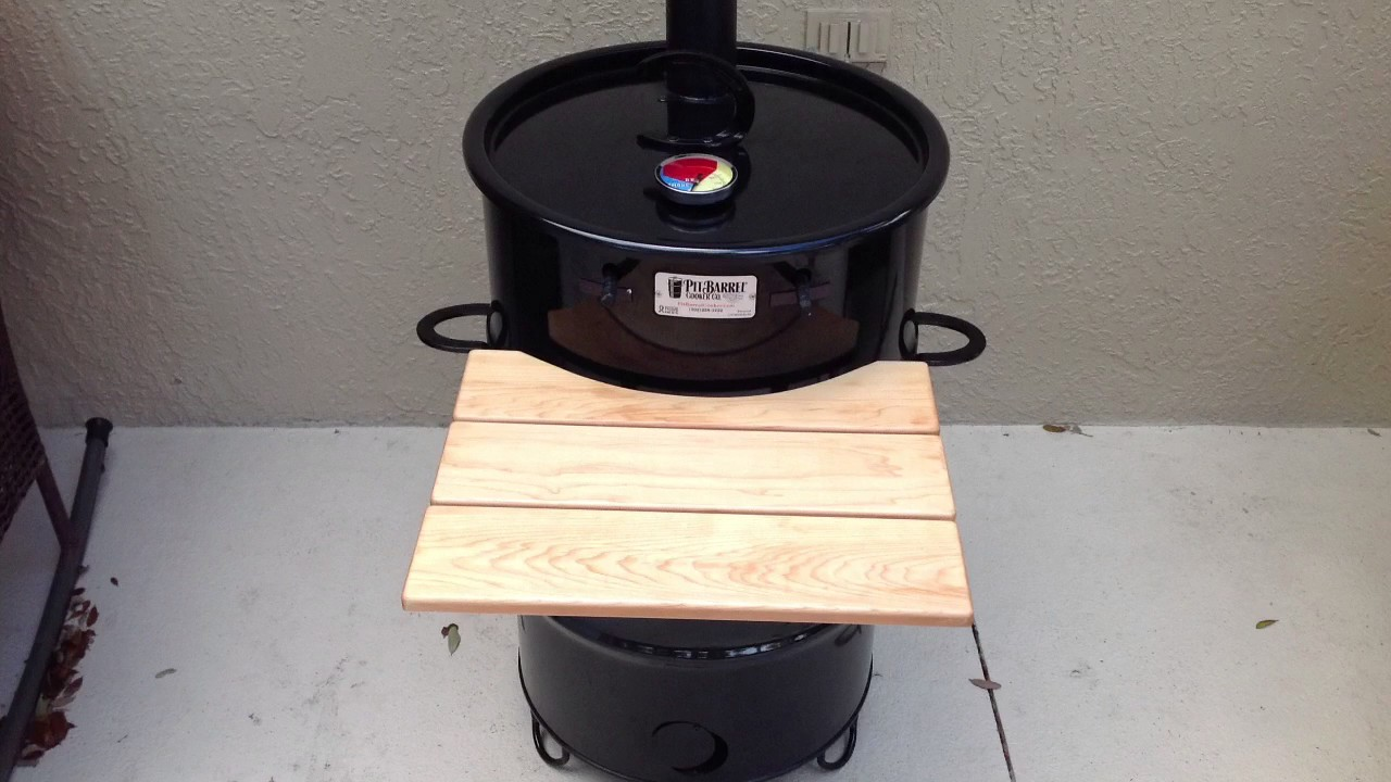 Pit Barrel Cooker Modification Adding A Chimney Youtube