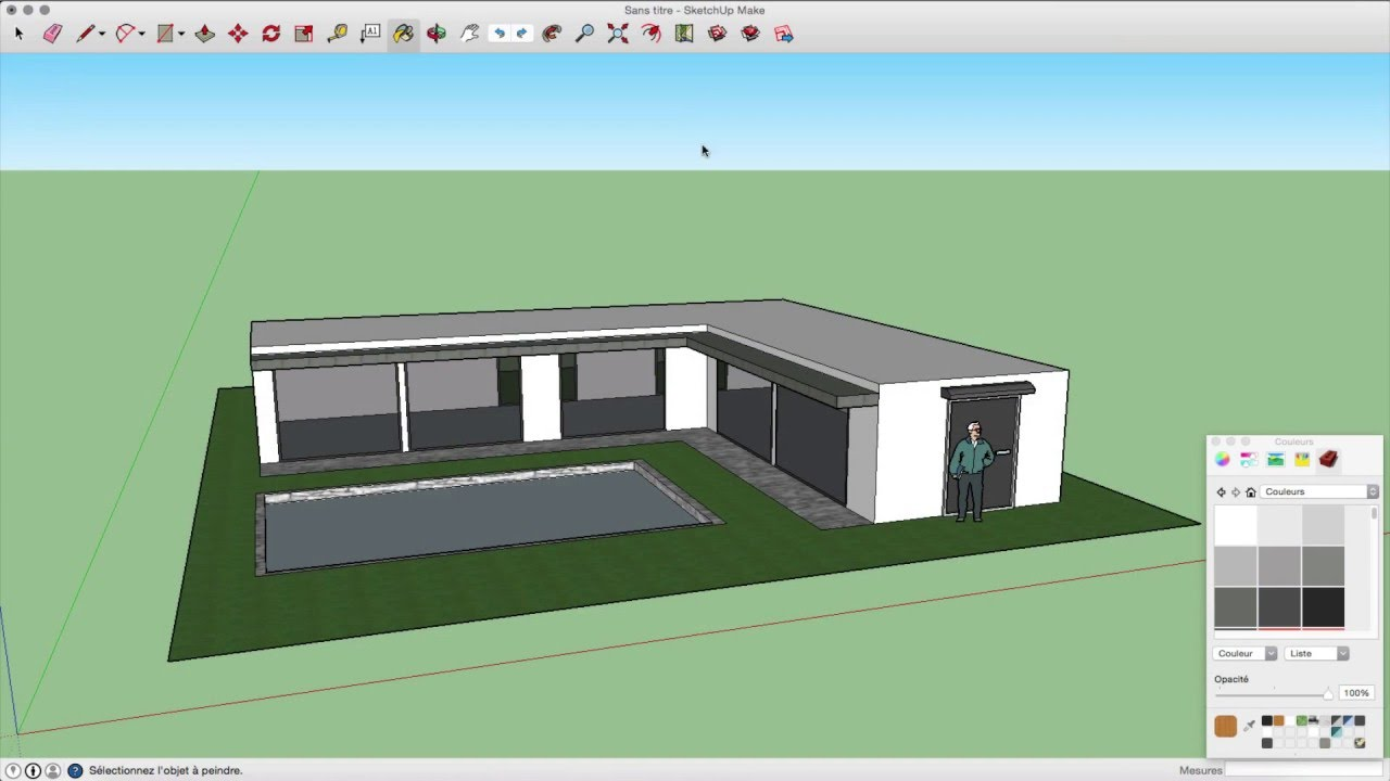 Sketchup - Maison moderne - YouTube