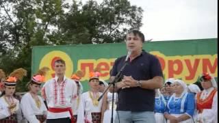 Михеил Саакашвили во Фрумушике Нова