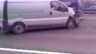 crash in vauxhall vivaro van on m62 - very serious crash