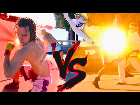Real Life Tekken Fight | HWOARNG vs STEVE FOX | Flips & Kicks