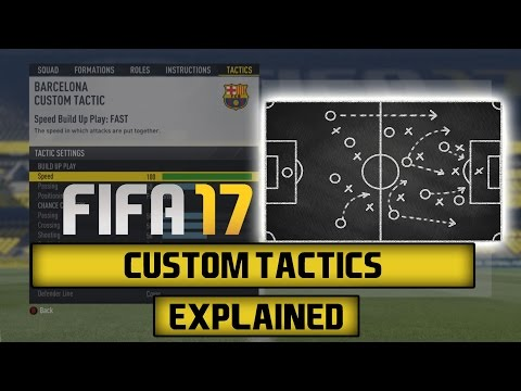 bardzo popularny o rozsądnej cenie autentyczny FIFA 17 | Custom Tactics Explained - YouTube