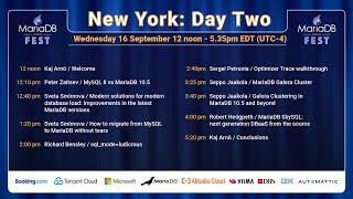 MariaDB Server Fest Live Stream - New York Day Two