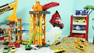 중장비장난감 모래놀이 트럭 자동차 토미카타운 빌드시티 파워크레인 건설현장 포크레인 불도저 Heavy Vehicles Tomica Town Build City Crane Toys