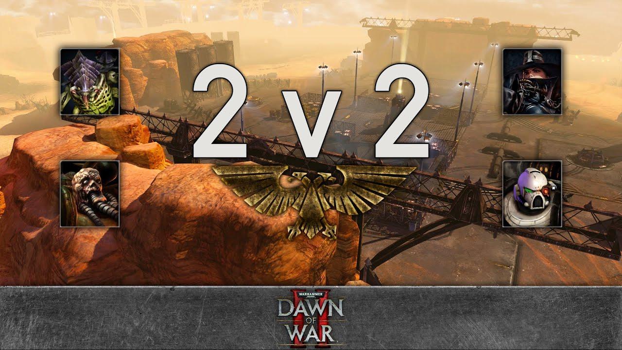 Dawn of War 2: Retribution - 2v2 | Cry this crysis + Новая Подстрижка [vs] Inekura + Red-Rupee