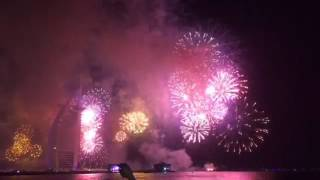 New Year eve fireworks @ burj al arab