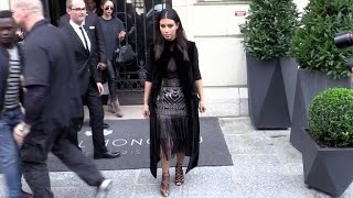 Kim Kardashian shopping at Balmain and meeting Rachel Zoe at L'Avenue restaurant in Paris