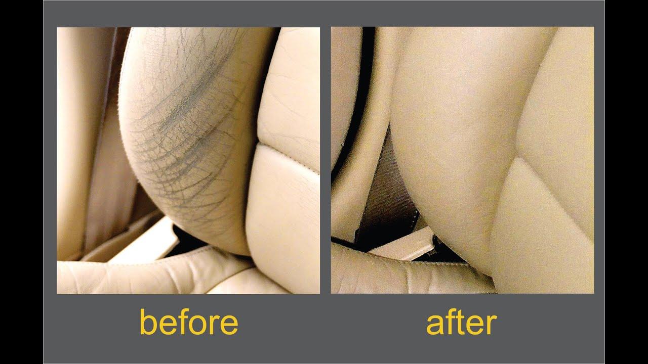 Leather Seat Restoration DIY Kit Demonstration Video - YouTube