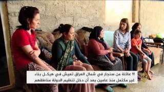 11 عائلة من سنجار بشمال العراق تعيش في هيكل