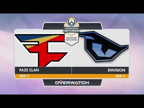 FaZe Clan vs EnVision  (Part 2)   OW Contenders Season One: North America [Semifinals]