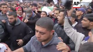 Funeral for Palestinian boy killed in Gaza protest