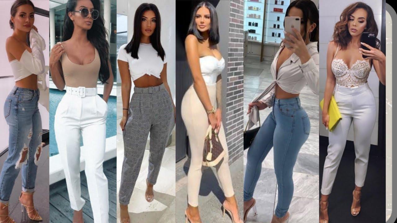Moda Mujer 2020 Como Usar Pantalones De Cintura Alta Pantalones De Moda 2020 Youtube