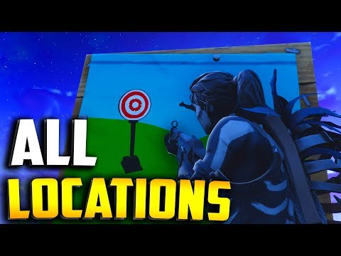 FORTNITE SHOOTING GALLERIES LOCATIONS!