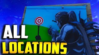 "FORTNITE SHOOTING GALLERIES LOCATIONS! ""Get a score of 3 or more at 5 different shooting galleries"""
