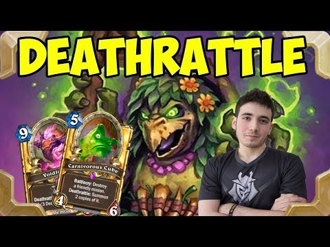 RDU tries Deathrattle Demons DK warlock deck (Rastakhan's Rumble)