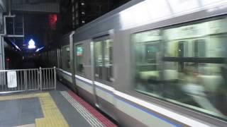 JR神戸線223系2000番台新快速大阪駅到着10※上郡行