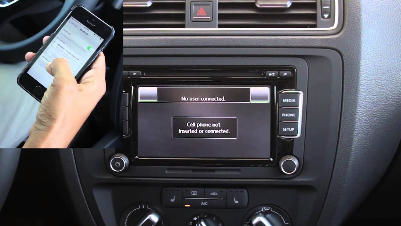how to pair your phone with the 2015 vw jetta bluetooth - youtube