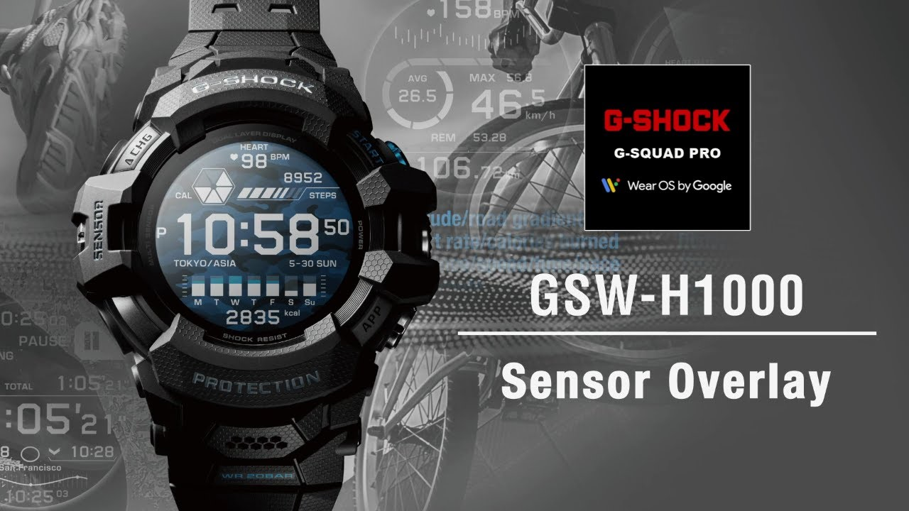 Tips Vol.07: How to use Sensor overlay | CASIO G-SHOCK GSW-H1000