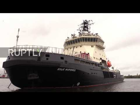Russia: First new ice breaker in decades hits the waves for Baltic Sea trials