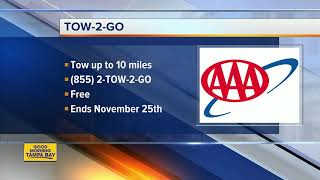 AAA offers 'Tow to Go' service for Thanksgiving weekend