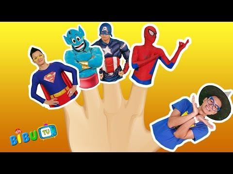 Finger Family Superheros