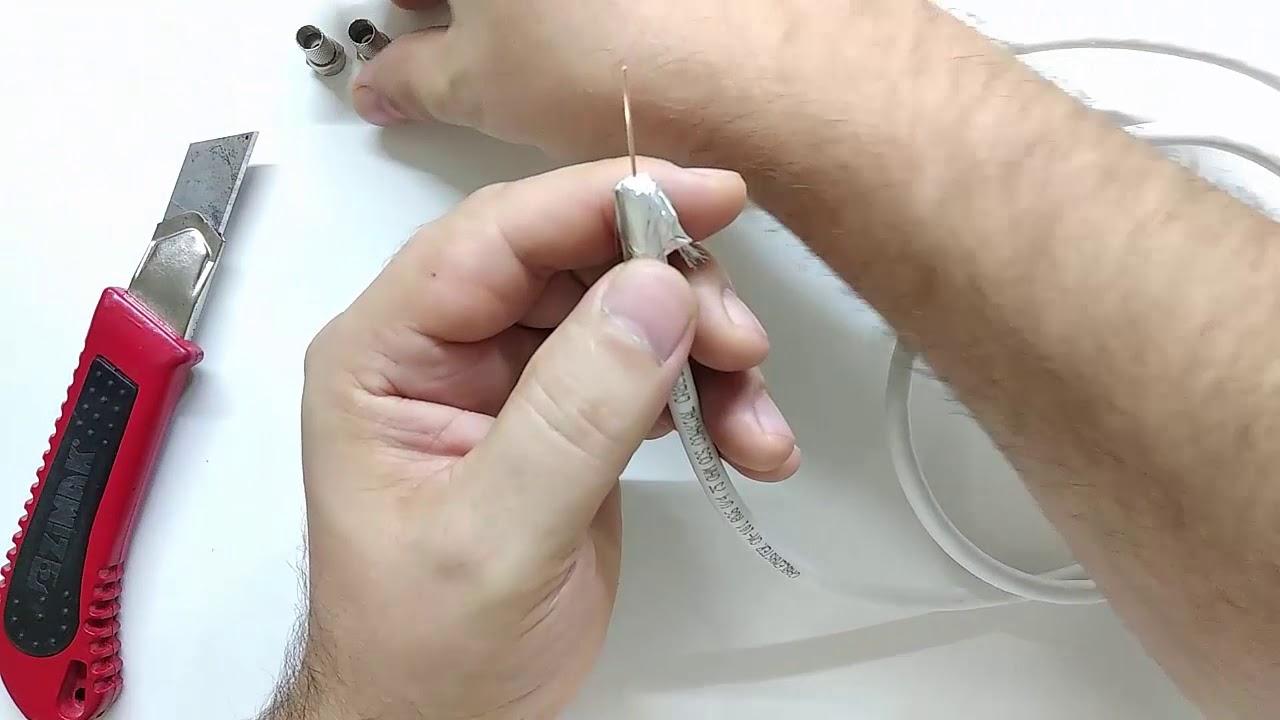 Uydu kablosu nasıl takılır   F konnektör bağlantısı