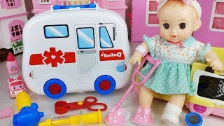 Doctor and Hospital ambulance car toys Baby doll play - 토이몽