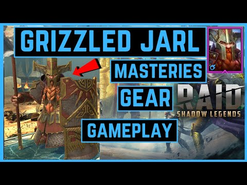 GRIZZLED JARL | MASTERIES  | GEAR | GAMEPLAY | RAID SHADOW LEGENDS