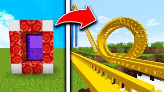 How To Make a Portal to the ROLLERCOASTER Dimension in MCPE (Minecraft PE)