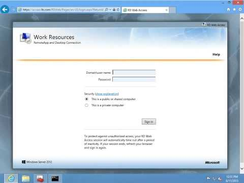 Windows 2012 Server Remote Desktop Service Kurulumu