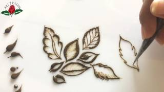 embellishment 16 : Learn tips and trick for dots and few leaves in henna art for beginner