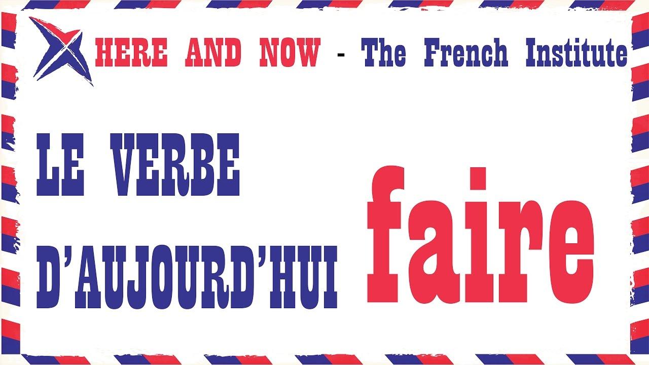Pronunciation & Conjugation of verb - faire - YouTube