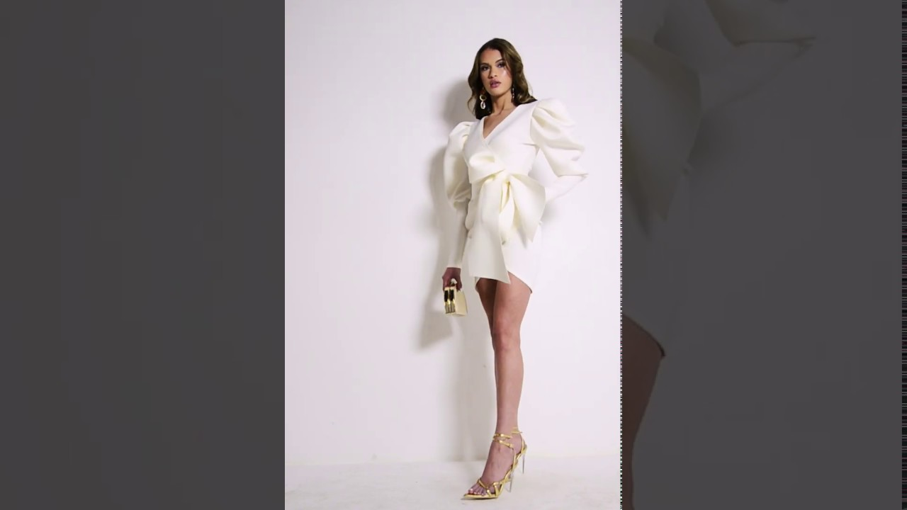 70a82fd874f MADLY IN LOVE PUFFY SLEEVES MINI DRESS - YouTube