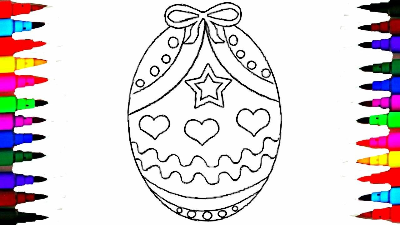 Coloring Pages Easter Egg Surprise Coloring Book Videos For Children  Rainbow Learning Colors