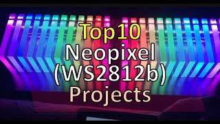 TOP 10 neopixel ws2812b projects (2018)