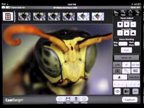 CamRanger - iPhone / iPad wireless control of Canon and Nikon DSLR